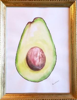 Watercolor Avacado
