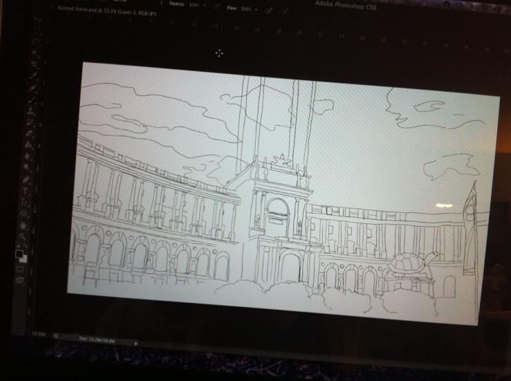 Digital Painting Line Work