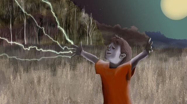 Scary Scene Digital Paintings