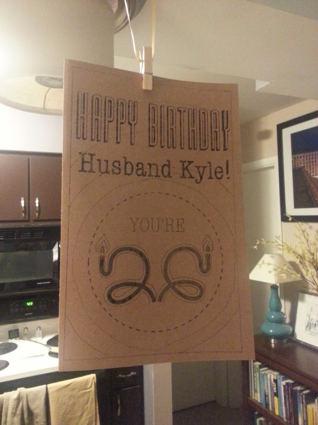 Husband's Bday Card